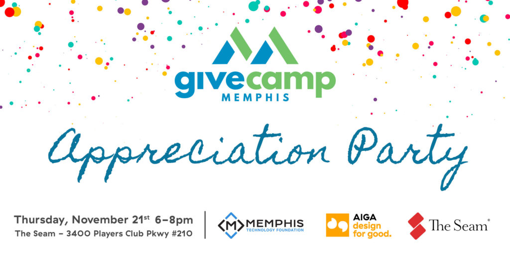 GiveCamp Memphis Appreciation Party